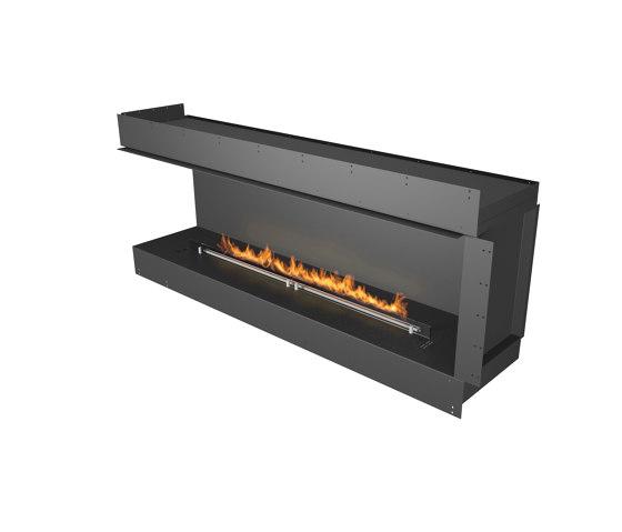 Forma 1800 Left Corner by Planika | Fireplace inserts
