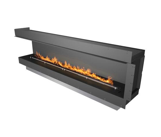 Forma 2700 Left Corner by Planika | Fireplace inserts