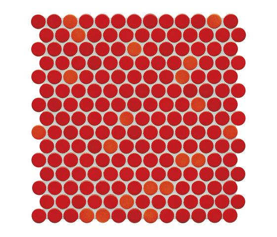 Loop | coral red glossy by AGROB BUCHTAL | Ceramic mosaics