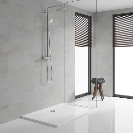Euphoria System 260 Shower System with thermostatic mixer for wall mounting by GROHE | Shower controls