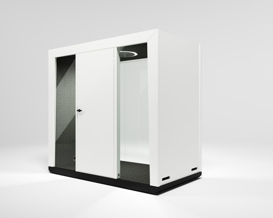 Module Duo #1 white by MODULE | Office Pods