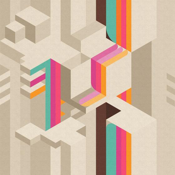 Tetriso di Inkiostro Bianco | Carta parati / tappezzeria