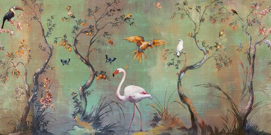 Ibis di Inkiostro Bianco | Carta parati / tappezzeria