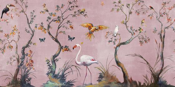 Ibis di Inkiostro Bianco   Carta parati / tappezzeria