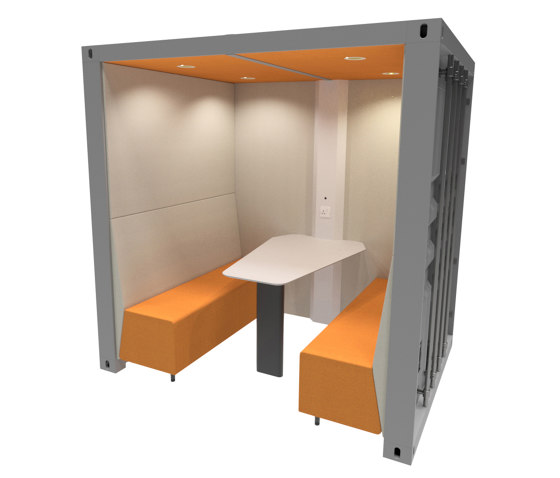 Container Box with Solid Back Panel by The Meeting Pod   Office Pods