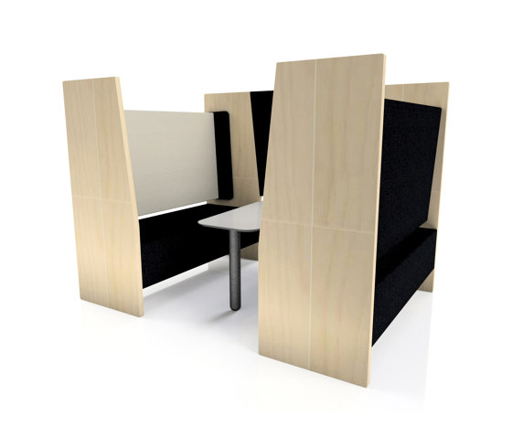 Part Enclosed Meeting Booth by The Meeting Pod | Sound absorbing architectural systems