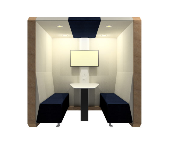 Meeting Box with Solid Back Panel by The Meeting Pod | Office Pods