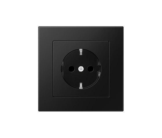 A 550 | SCHUKO-Socket matt graphite black by JUNG | Schuko sockets