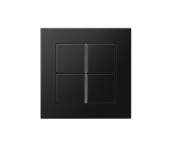 A 550   F40 Push-button sensor 4-gang matt graphite black by JUNG   Push-button switches