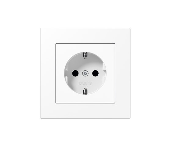 A 550 | SCHUKO-Socket matt snow white by JUNG | Schuko sockets