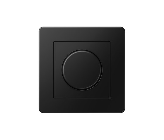 A Flow | Rotary Dimmer matt graphite black by JUNG | Rotary switches