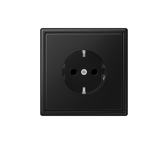 LS 990 | SCHUKO-Socket matt graphite black by JUNG | Schuko sockets