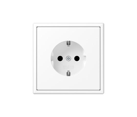 LS 990 | SCHUKO-Socket matt snow white by JUNG | Schuko sockets