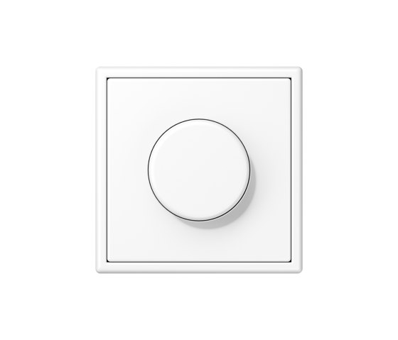 LS 990 | Rotary Dimmer matt snow white by JUNG | Rotary switches