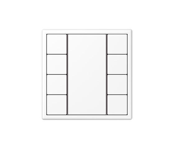 LS 990 | F50 Push-button sensor 8-gang matt snow white by JUNG | Push-button switches
