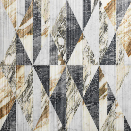 Opus   Tangram zafferano von Lithos Design   Naturstein Platten