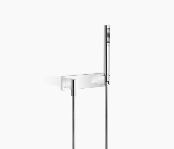 Modern Showers   Hand shower set with cover plate by Dornbracht   Shower controls
