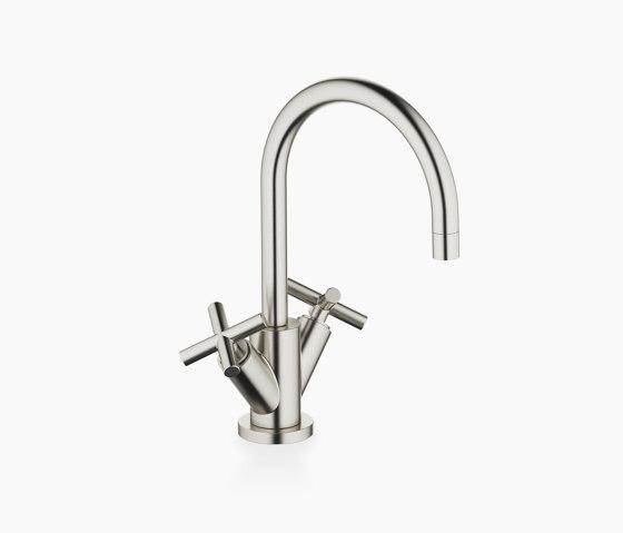Tara. - Single-hole basin mixer with pop-up waste - platinum matt by Dornbracht | Wash basin taps