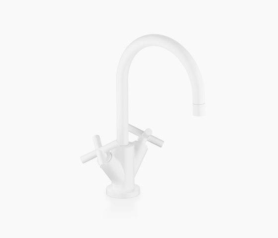 Tara. - Single-hole basin mixer with pop-up waste - matt white by Dornbracht   Wash basin taps