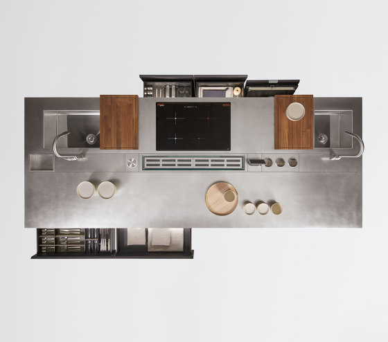 Thea, Layout 03 by Arclinea | Island kitchens