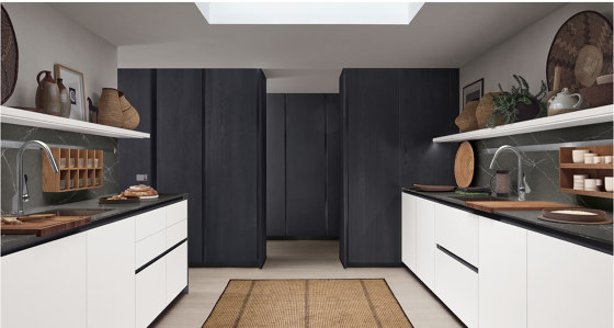 Thea, Show and Wet Kitchen by Arclinea | Fitted kitchens
