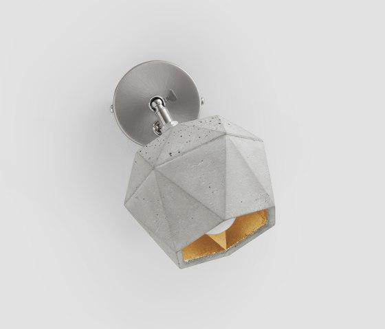 [T2] spot Concrete & Gold - Silver - Copper by GANTlights | Wall lights
