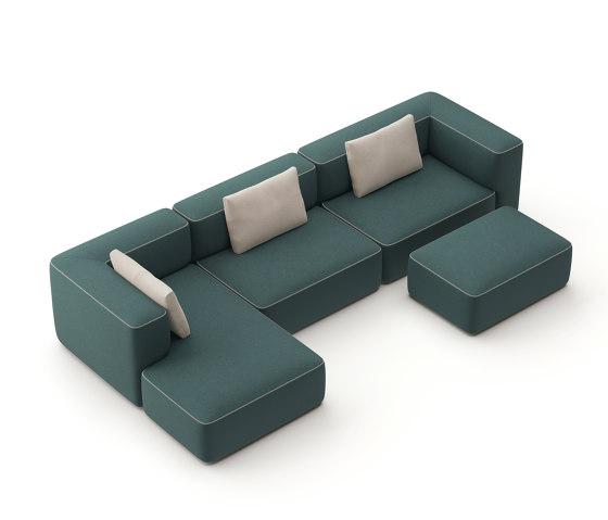 pads sofa Konfiguration 7 von Brunner | Sofas