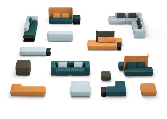 pads sofa Konfiguration 9 von Brunner | Sitzinseln