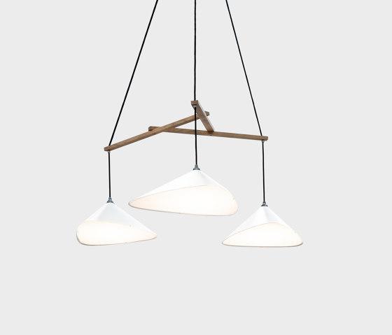 Emily Group of Three semi-matte white by Daniel Becker Studio | Suspended lights