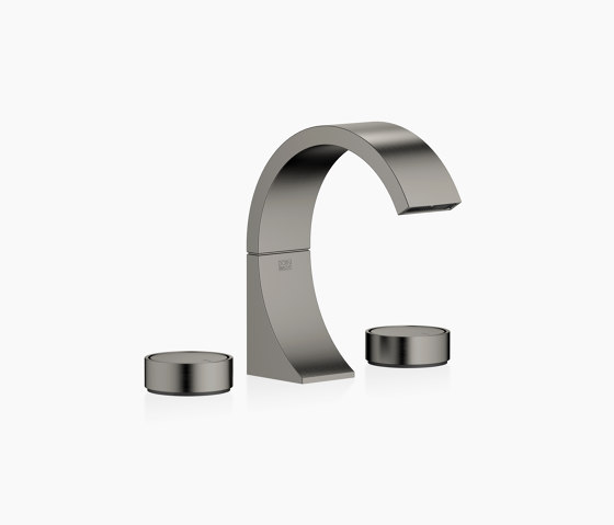 CYO - Waschtisch-Dreilochbatterie mit Ablaufgarnitur - Dark Platinum matt von Dornbracht | Waschtischarmaturen