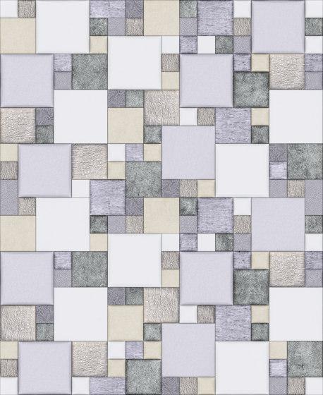 Pattern 2 Luxury Silver by Studioart | Leather tiles