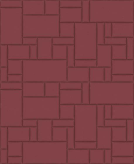 PATTERN 6 City Merlot by Studioart | Leather tiles