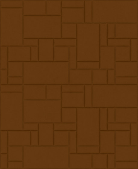 PATTERN 6 Velluto Cognac by Studioart   Leather tiles