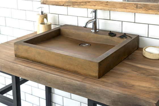Bologna Vintage Brown Concrete Basin - Sink - Vessel - Washbasin by ConSpire   Wash basins