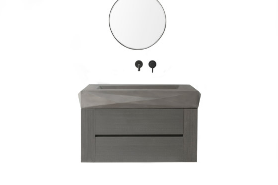 Diamond Mezzo Dusk Grey Concrete Basin - Sink - Vessel - Washbasin by ConSpire | Wash basins