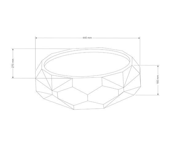 Diamond Piccola Dusk Grey Concrete Basin - Sink - Vessel - Washbasin by ConSpire | Wash basins