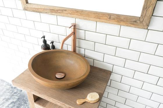 Luca Vintage Brown Concrete Basin - Sink - Vessel - Washbasin by ConSpire | Wash basins