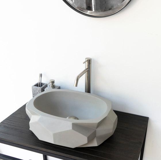 Diamond Medio Light Grey Concrete Basin - Sink - Vessel - Washbasin by ConSpire | Wash basins