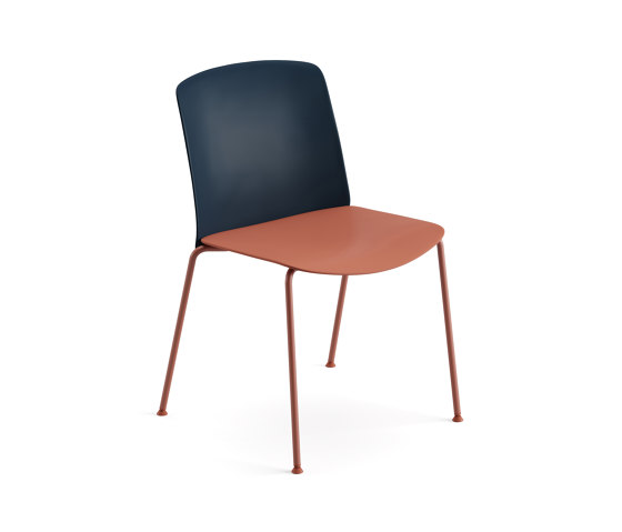 Mixu   Chair 4 legs stackable by Arper   Chairs