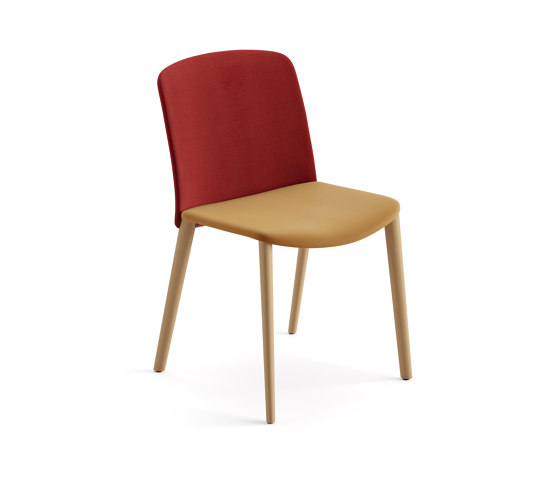 Mixu   Chair 4 wood legs, upholstered by Arper   Chairs