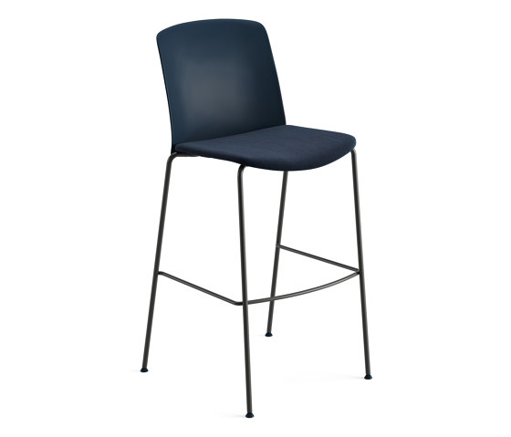 Mixu | Bar stool 4 legs stackable, upholstered by Arper | Bar stools