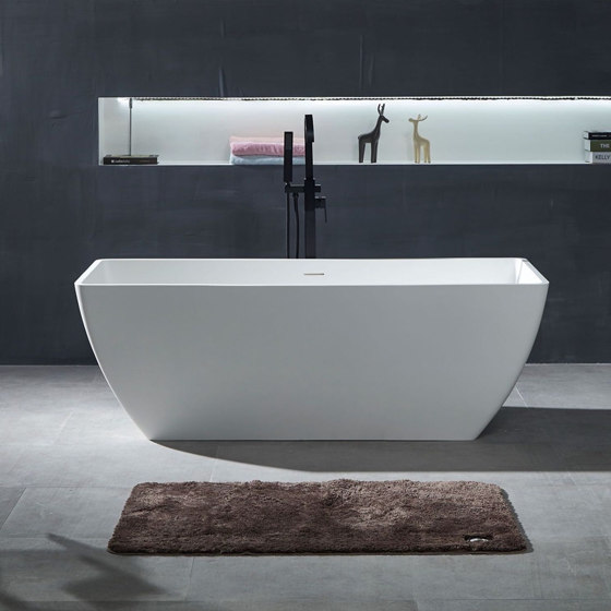 SOLID SURFACE | Palermo Freestanding Solid Surface Bathtub - 150cm by Riluxa | Bathtubs