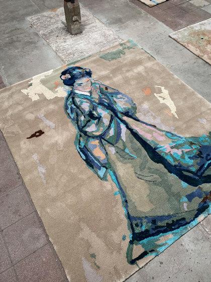 Japanese paintings | Callas/butterfly (VII) by Jasper Krabbé by Frankly Amsterdam | Rugs
