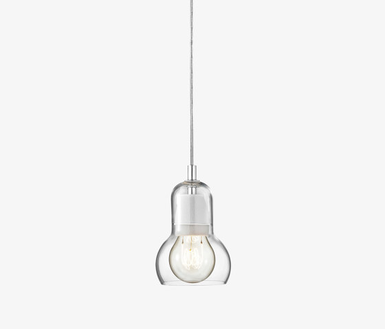 Bulb Pendant SR1 Clear & Fabric Cord by &TRADITION | Suspended lights