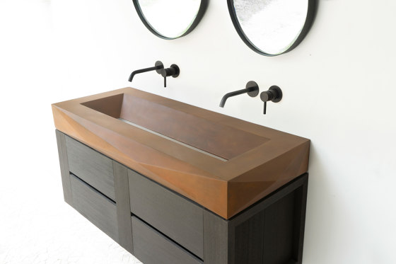 Diamond Grande Vintage Brown Concrete Sink - Basin - Washbasin by ConSpire | Wash basins