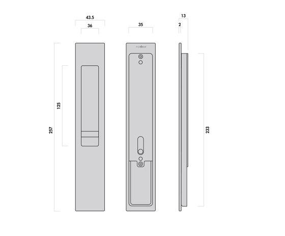 Mardeco 8104 M-Series Flush Pull Euro Lock Set Black by Mardeco International Ltd.   Flush pull handles