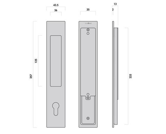 Mardeco 8104 M-Series Flush Pull Euro Lock Set Bronze by Mardeco International Ltd. | Flush pull handles