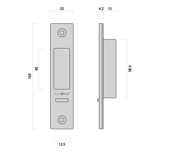 Mardeco 8104 M-Series Flush Pull Euro Lock Set Brushed Satin Chrome by Mardeco International Ltd.   Flush pull handles