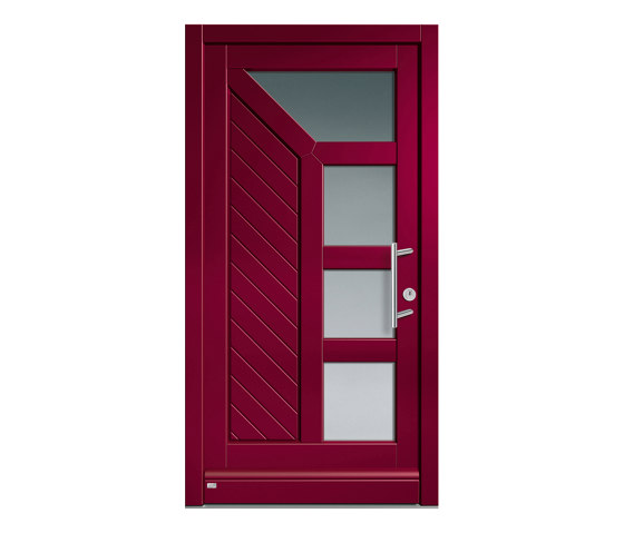 Wooden entry doors   HighLine Model 2224 by Unilux   Entrance doors