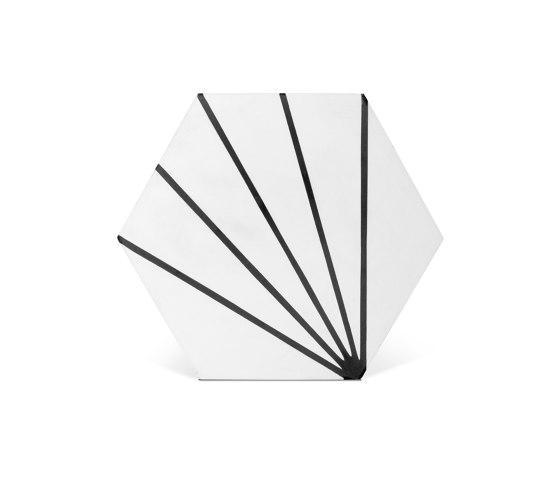Decorative Cement Tile   Striped Hex by Eso Surfaces   Concrete tiles